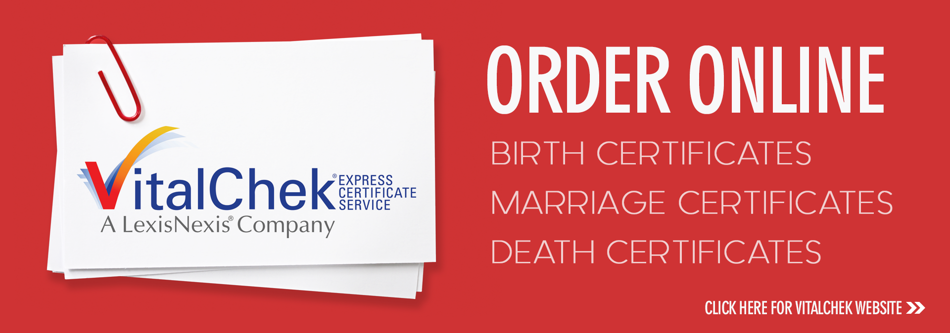 VitalChek Online Ordering of Birth, Death and Marriage Certificates